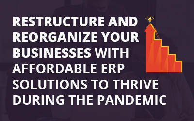 Restructure and Reorganize Your Businesses with Affordable ERP Solutions to Thrive During the Pandemic